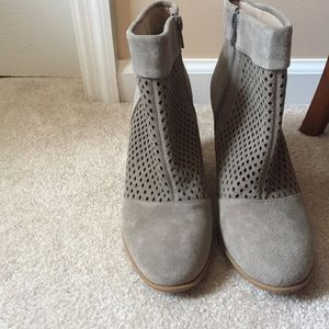 Sole Society grey perforated booties